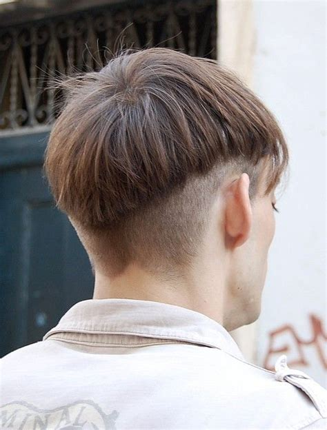 back of hair in a point trendy haircuts for men super cool men s basin cut with