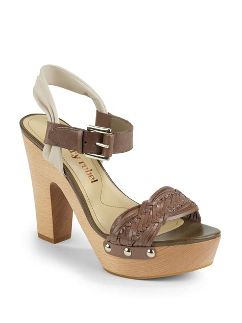 rebel sandals luxury rebel quintin platform sandals in brown vision lyst