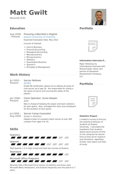 Soccer Resume Template by Referee Resume Sles Visualcv Resume Sles Database