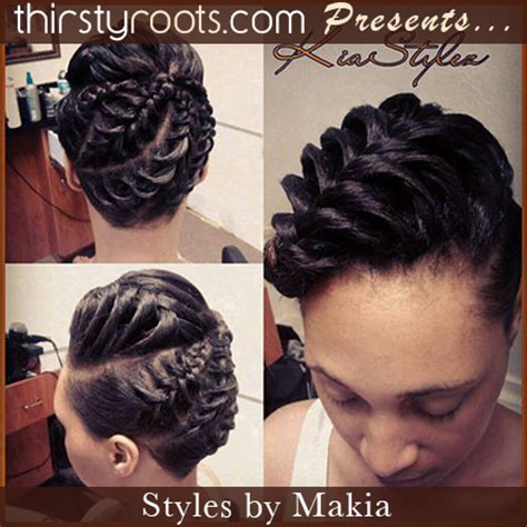 Black Braided Updo Hairstyles by Fishtail Braid Updo Hairstyle Thirstyroots Black