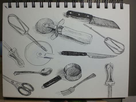 Drawing Utensils by My Drawing Journal 75 Day Ink Sketch A Day