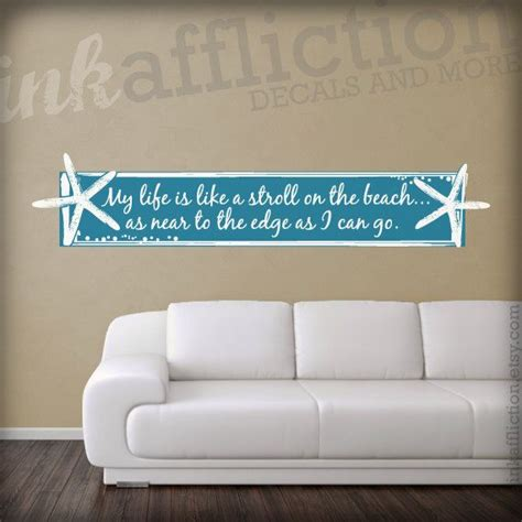 custom wall stickers quotes custom starfish quote wall decal for the home