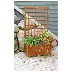 Wooden Trellis Wooden Flower Box Garden Trellis 234987 Decorative