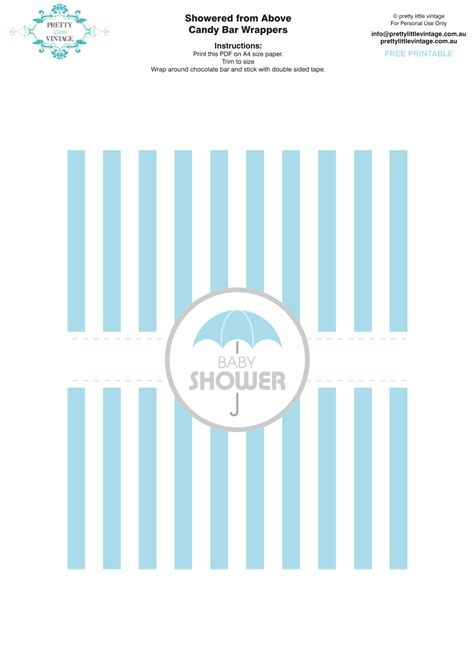 baby shower wrappers templates free free printable baby shower bar wrappers via