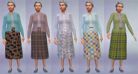 Gamis Skirt mod the sims cardigan and skirt