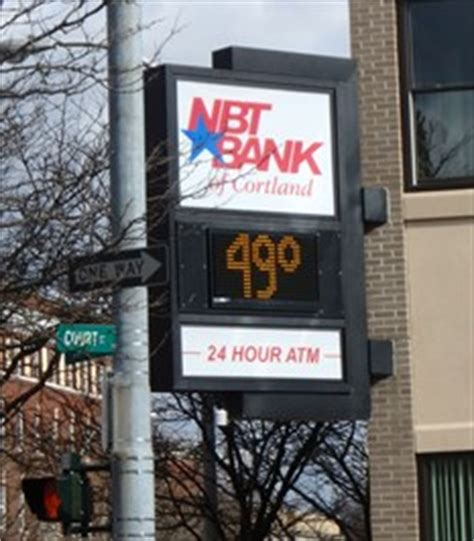 nbt bank hours nbt bank cortland ny time and temperature signs on