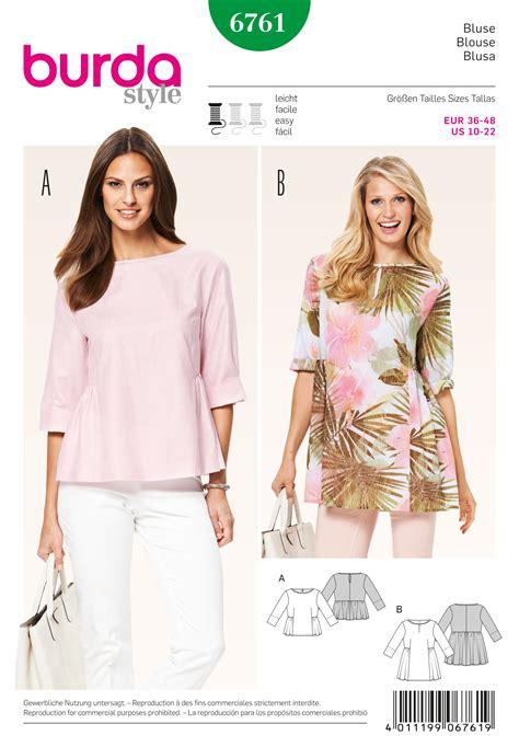 shirt pattern burda burda 6761 burda style tops shirts blouses