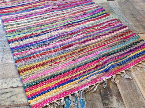 Fair Trade Recycled Multi Coloured Rag Rug