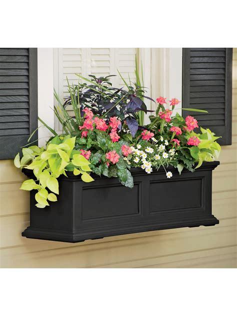 window boxes planters 3 ft fairfield self watering windowbox planters gardener