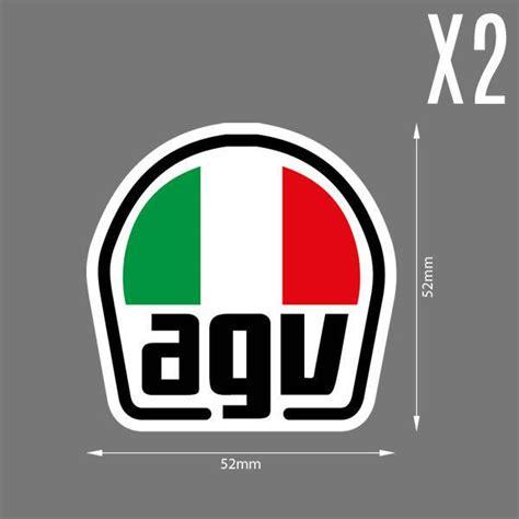 Vespa Aufkleber Helm by 2 X Agv Casque Helmet Italy Rossi Moto Vespa Scooter