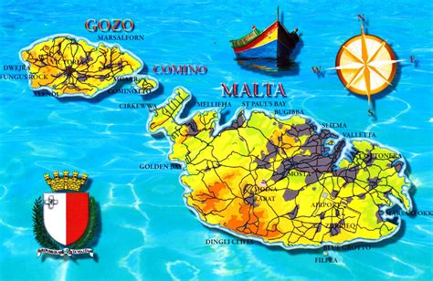 map of malta large detailed tourist map of malta malta europe