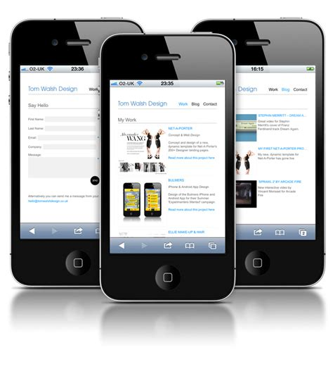 live mobile site my mobile site is live tom walsh design