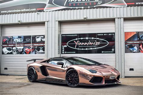 rose gold lamborghini yianni s lambo wrapped chrome rose gold youtube
