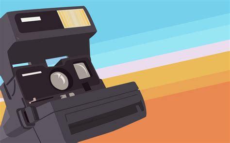 camera vector wallpaper fly polaroid by tommy vad flaaten simple desktops