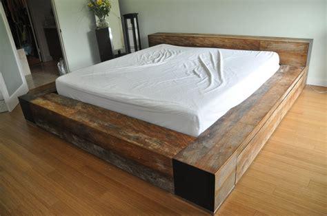 minimalist platform bed minimalist reclaimed wood king platform bed frame low
