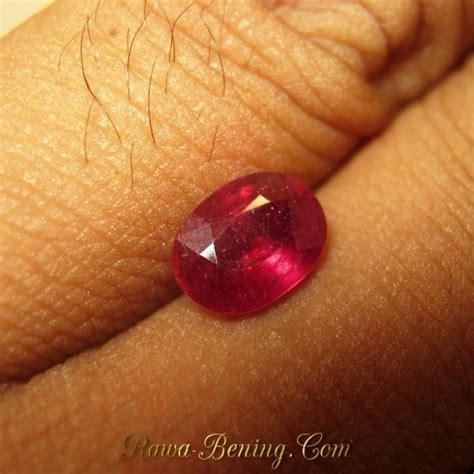 Merah Oval Cutting jual batu mulia ruby merah bentuk oval 1 87 carat harga promo murah