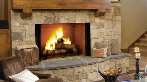 Fireplace With Wood Burner by Majestic Biltmore Wood Fireplaces