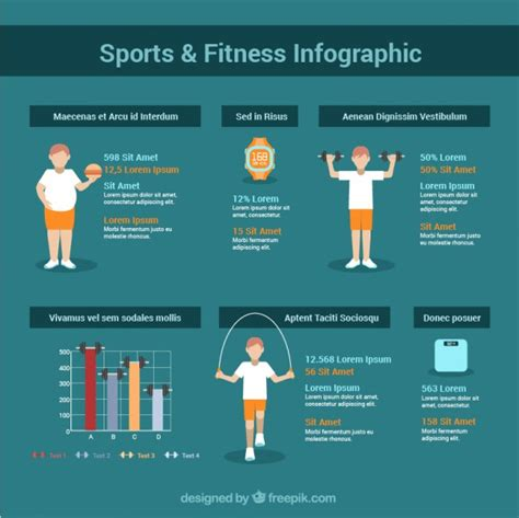 sports infographics templates fitness infographic template vector premium