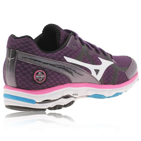 mizuno running shoes wave rider 17 mizuno wave rider 17 s running shoes womens purple