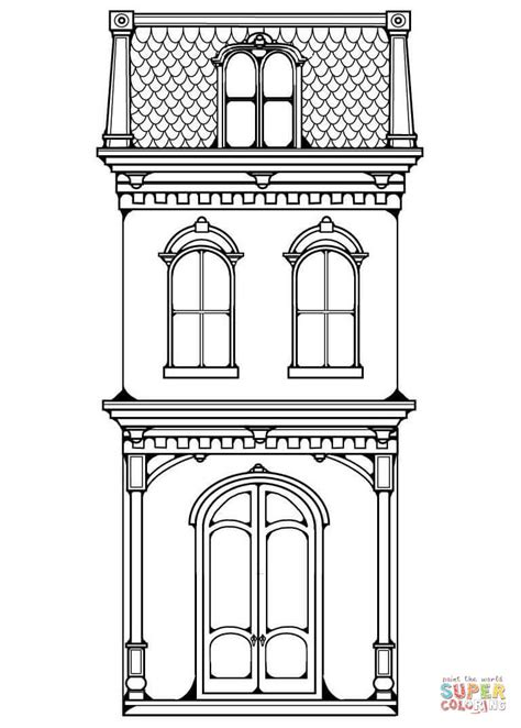 row house coloring pages victorian row house coloring page free printable