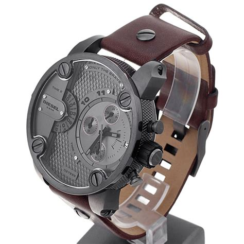 Diesel Brave Steel 2 diesel dz7258 brown leather only the brave chronograph s diesel baby