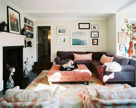 purple couch living room bohemian living room photos 128 of 144 lonny