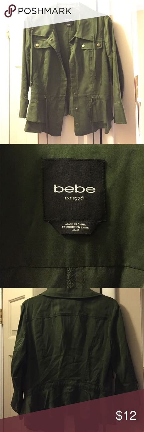 Jacket Bebe Army 25 best ideas about army green jackets on