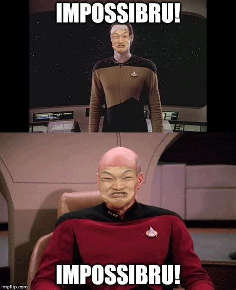Data Star Trek Meme - immpossiru data picard imgflip