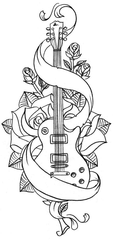 guitar coloring pages for adults 5910 best colouring images images on pinterest coloring