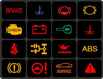dashboard warning lights     updated full