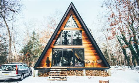a frame cabin in the woods in new jersey cool material