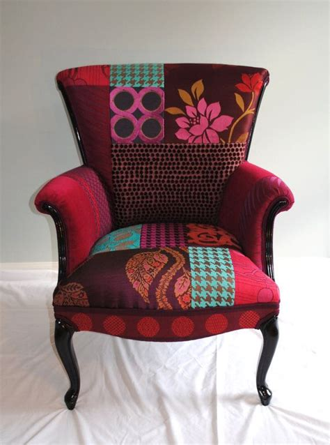Patchwork Chairs - plum patchwork chair