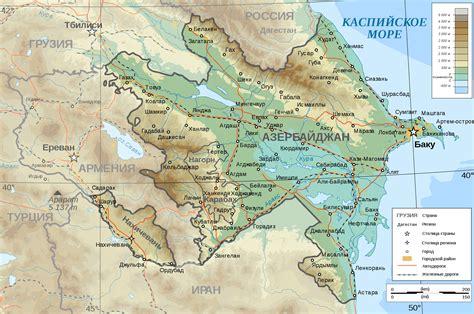 russia map azerbaijan maps of azerbaijan detailed map of azerbaijan in