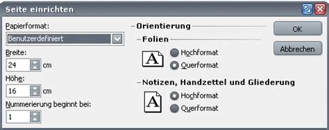 powerpoint layout hochkant powerpoint mit dem format das thema aufgreifen c