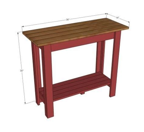 sofa table measurements console table dimensions woodworking projects plans