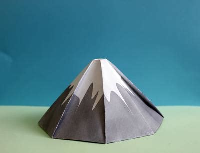 How To Make A Origami Volcano - damavand volcano