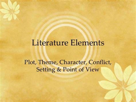 theme in literature slideshare literature elements