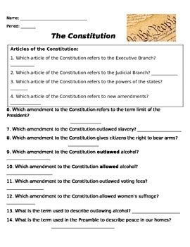 14th Amendment Worksheet by Amendments Worksheet Geersc