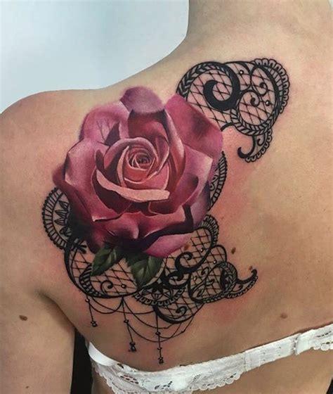 hot pink rose tattoo realistic pink pink tattoos