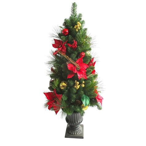 4 ft christmas tree with lights home accents holiday 4 ft artificial lantern porch tree