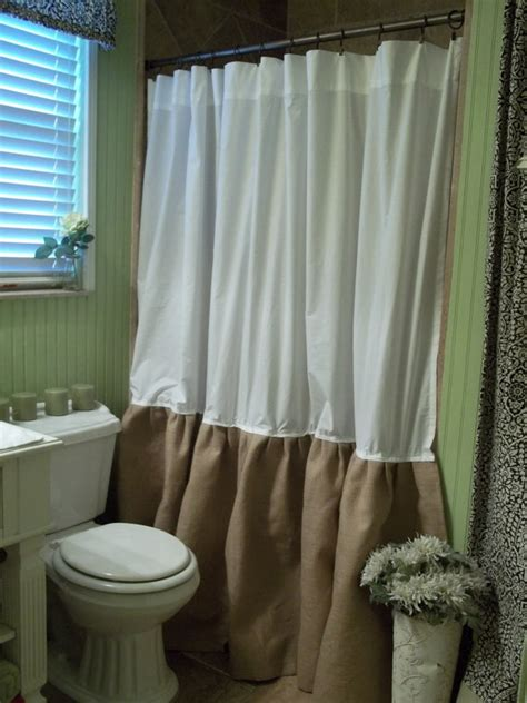 shabby chic bathroom curtains burlap shower curtain shabby chic burlap by simplyfrenchmarket