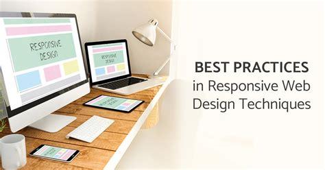 best practices in responsive web design techniques