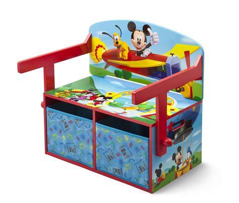 banco baul infantil banco infantil mickey mouse disney ba 250 l 3 en 1 de madera