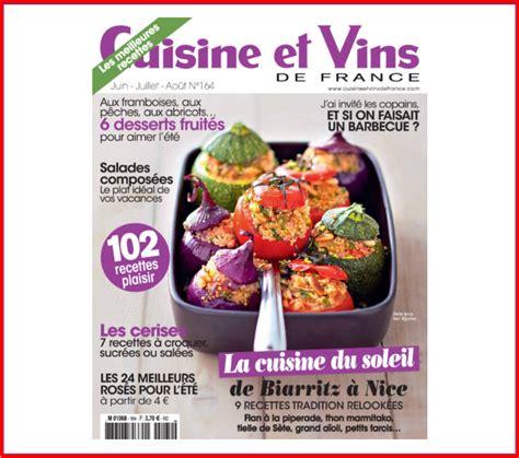 cuisine et vins de magazine cuisine et vins de la maison oppoca