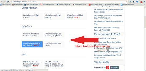 cara membuat html responsive cara membuat archive sitemap blog yang responsive