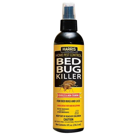 bed bug body spray harris bed bug lice killer spray 8oz pf hbb 8 insect