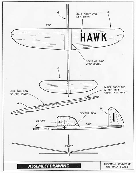 balsa glider template pdf glider blueprints plans free