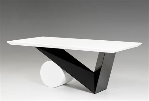 Bauhaus Modern Black and White Dining Table