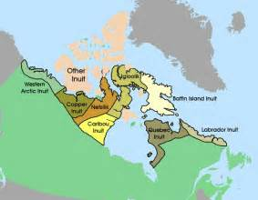 inuit canada map the arctic groups in this region