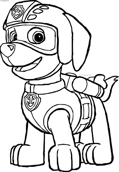 www coloring paw patrol coloring pages free coloring pages